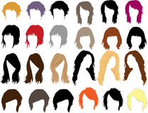 Hair - dress Royalty Free Stock Photography