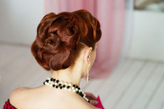 Hair dress, luxury style, elegant retro Stock Images