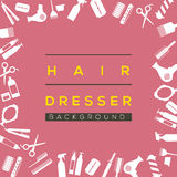 Hair Dresser Background. Stock Photo