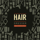 Hair Dresser Background. Royalty Free Stock Images
