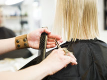Hair Dressing Close up Stock Photo