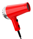 The hair dryer. 3d generated picture of a red hair dryer vector illustration