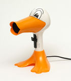 Hair dryer duck. With yellow toe stock images
