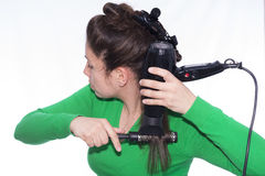 Hair dryer. Stock Image