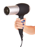 Hair dryer in hand Stock Image