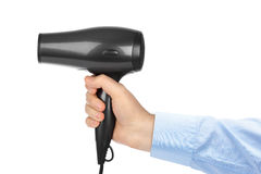 Hair Dryer In Hand Royalty Free Stock Photography