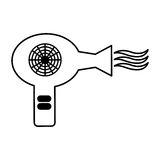 Hair dryer isolated icon Stock Image