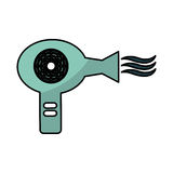 Hair dryer isolated icon Royalty Free Stock Image