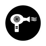 Hair dryer isolated icon Royalty Free Stock Photo