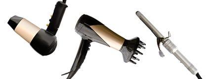 Hair dryer isolated Stock Photos