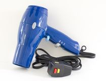 Hair Dryer; on white Stock Images