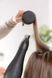 Hair Drying Royalty Free Stock Photo