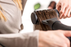 Hair Drying Stock Image