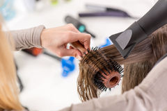 Hair Drying Royalty Free Stock Image