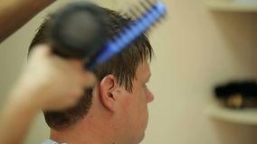 Hair Drying stock footage