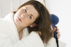 Hair drying series 2 Royalty Free Stock Photos