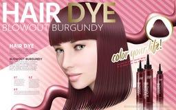 Hair dye ad Stock Photography