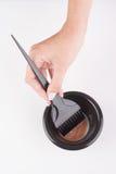 Hair dye mixing bowl and brush Royalty Free Stock Photo