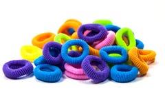 Hair elastic bands Royalty Free Stock Photo
