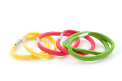 Hair elastics Stock Images