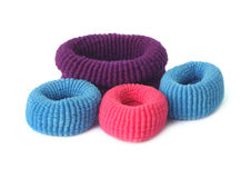 Hair elastics royalty free stock photos