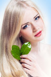 Hair and face beauty Royalty Free Stock Images