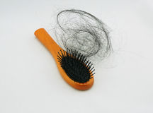 Hair fall and brush Stock Image
