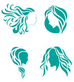 Hair fashion icon symbol of female beauty Royalty Free Stock Image