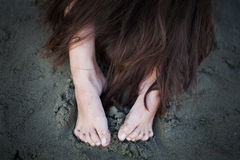 Hair and Feet Stock Photography