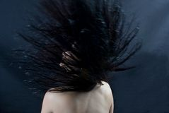 Hair flick Stock Images