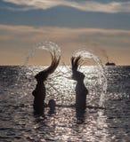 Hair flick  PortoMari - sunset Royalty Free Stock Image