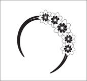 Hair flower band. Beautiful stylish flower accessory for hair Royalty Free Stock Photo