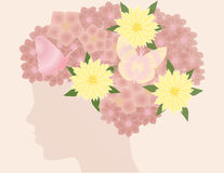 Hair flowers Royalty Free Stock Images