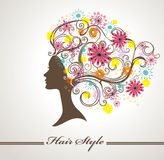 Hair flowers Stock Photography