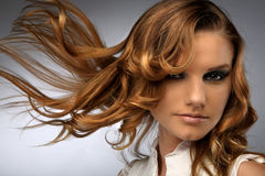 Free Hair Fluttering In The Wind Royalty Free Stock Image - 5391266