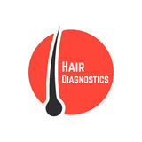 Hair follicle diagnostics sign Royalty Free Stock Images