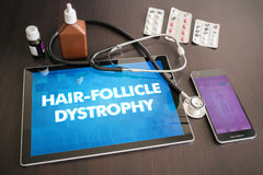 Hair-follicle dystrophy (cutaneous disease) diagnosis medical co Royalty Free Stock Photo