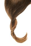 Hair fragment over the white Royalty Free Stock Photo