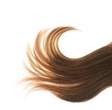 Hair fragment over the white Stock Photos