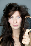 Hair frustration Royalty Free Stock Photo