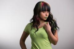 Hair, Green, Human Hair Color, Beauty stock image