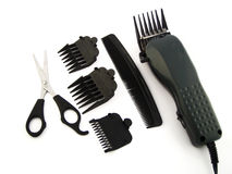 Hair grooming parts Royalty Free Stock Photos