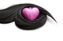 Hair with heart shape protection Stock Photo