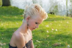 Hair, Human Hair Color, Grass, Blond Stock Images