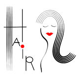 Hair illustration Stock Photography