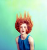 Hair like a flame Royalty Free Stock Image