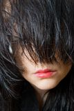 Hair and lips Royalty Free Stock Images