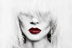 Hair and lips concept Stock Photo
