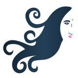 Hair logo. Illustration of hair logo design isolated on white background Royalty Free Stock Photos