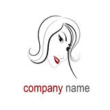 Hair logo Royalty Free Stock Images